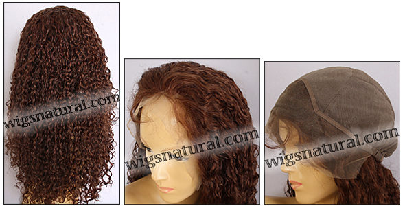 Silk Top Lace Front Wig, or lace front wig, Virgin European hair, virgin Brazilian hair, or virgin Asian hair, VWLF-Auburn-Curly-30M28-26