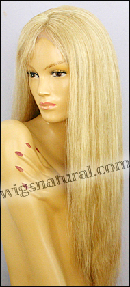 Silk Top Lace Front Wig, or lace front wig, Virgin European hair, virgin Brazilian hair, or virgin Asian hair, VWLF-LGBlond-Straight-17HL11BL-24
