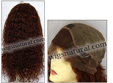Silk Top Lace Front Wig, or lace front wig, Virgin European hair, virgin Brazilian hair, or virgin Asian hair, style VWLF-DAuburn-Curly-31-22