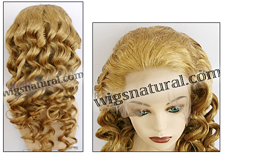 Silk Top Lace Front Wig, or lace front wig, Virgin European hair, virgin Brazilian hair, or virgin Asian hair, style VWLF-MGBlond-BodyCurl-15HL14-26