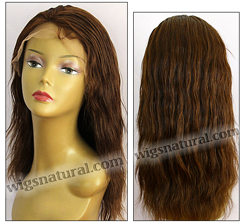 Silk Top Lace Front Wig, or lace front wig, Virgin European hair, virgin Brazilian hair, or virgin Asian hair, VWLF-LCoBrown-PNWavy-22-20