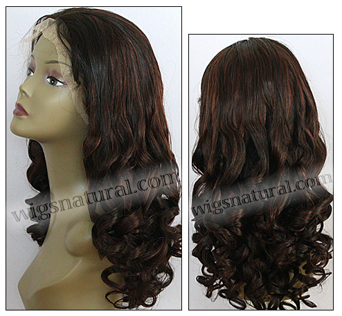 Silk Top Lace Front Wig, or lace front wig, Virgin European hair, virgin Brazilian hair, or virgin Asian hair, VWST-DBrown-bodyCurl-31HL2-28