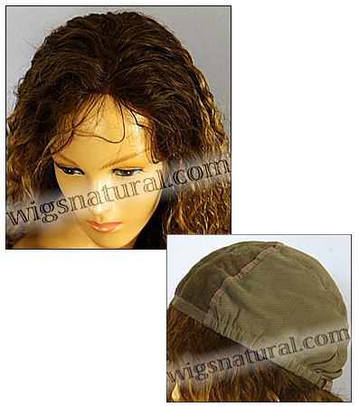 Glueless Lace Front Wig, Virgin European hair, virgin Brazilian hair, or virgin Asian hair, style VWGL-MBlond-Curly-10NT4B-28