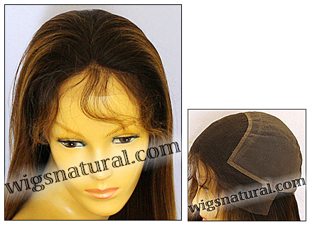 Glueless Lace Front Wig, Virgin European hair wig, virgin Brazilian hair wig, style VWGL-TidyStraight-2BT7T10N-24
