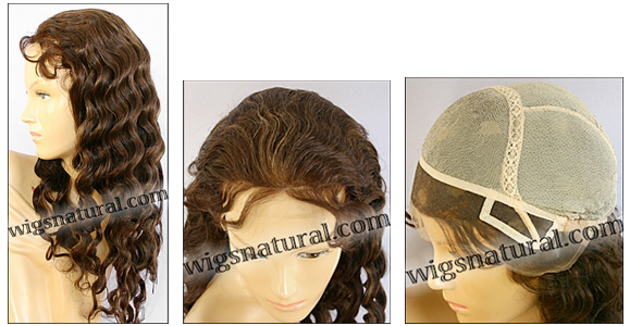 Glueless Lace Front Wig, Virgin European hair, virgin Brazilian hair, or virgin Asian hair, style VWGL-LCBrown-LighWave-26HL22-26