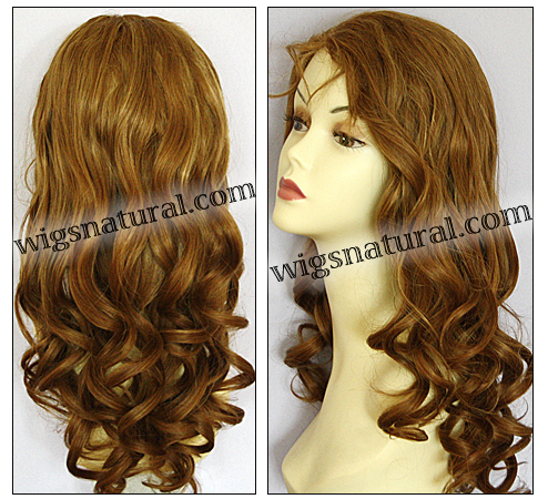 Glueless Lace Front Wig, Virgin European hair, virgin Brazilian hair, or virgin Asian hair, style VWGL-GLBrown-bodyCurl-24HL22-26
