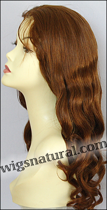 Full Hand-tied Monofilament wig, Virgin Brazilian Remy Hair, virgin European remy hair, or virgin Asian hair, wig style VWMN-EuAuburn-22Mix24-24, Custom