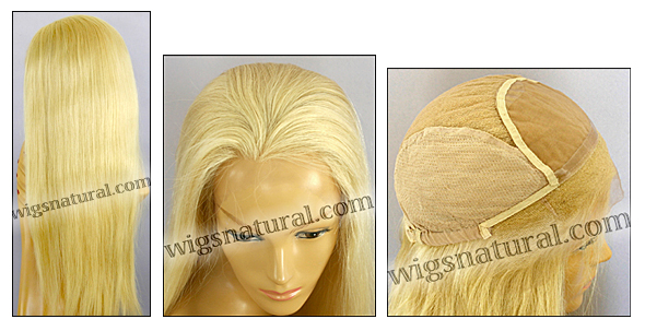 Full Hand-tied Monofilament wig, virgin European remy hair, virgin Brazilian Remy Hair, or virgin Asian hair, wig style VWMN-HLGBlond-Straight-17-28, Custom