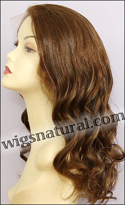 Full Hand-tied Monofilament wig, Virgin Brazilian Remy Hair, virgin European remy hair, or virgin Asian hair, wig style VWMN-EuLBrown-15HL7-24, Custom