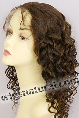 Full Hand-tied Monofilament wig, Virgin Brazilian Remy Hair, virgin European remy hair, or virgin Asian hair, wig style VWMN-EuDBrown-7HL3B-22, Custom