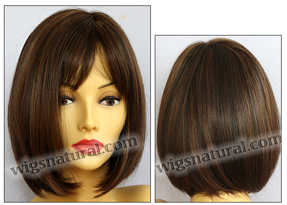 Envy mono part wig Petite Paige, color shown cinnamon raisin