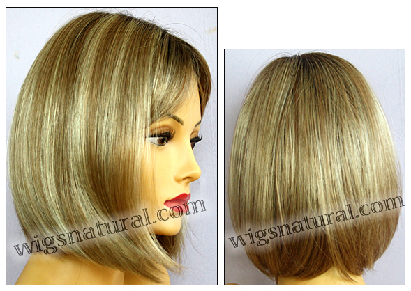 Envy mono part wig Petite Paige, color shown sparkling champagne