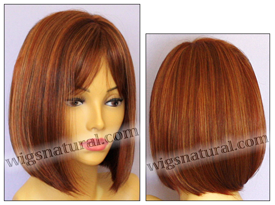 Envy mono part wig Petite Paige, color shown lighter red