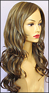 Envy mono top with lace front wig Brianna, color shown mocha frosted