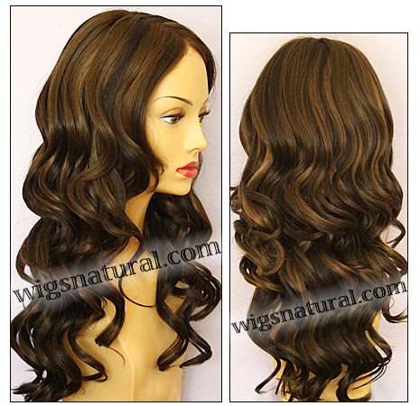 Envy mono top with lace front wig Brianna, color shown medium brown