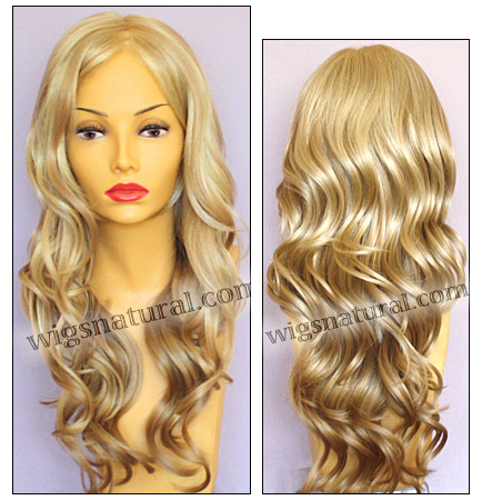 Envy mono top with lace front wig Brianna, color shown medium blonde