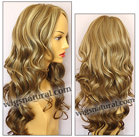 Envy mono top with lace front wig Brianna, color shown dark blonde