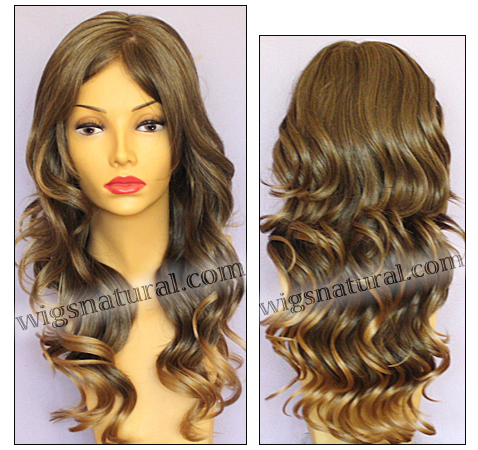 Envy mono top with lace front wig Brianna, color shown frosted