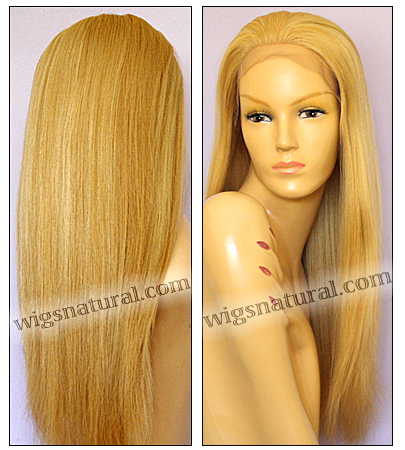 Silk Top Lace Front Wig, or lace front wig, Virgin European hair, virgin Brazilian hair, or virgin Asian hair, VWLF-GBlond-silkStraight-17HL15-24