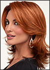 Envy mono top with lace front wig Rylee, (color shown lighter red)