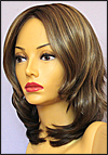 Envy mono top with lace front wig Rylee, color shown toasted sesame