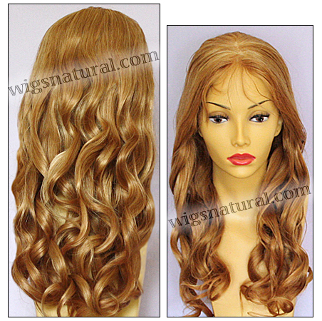 Full Hand-tied Monofilament wig, Virgin Brazilian Remy Hair, virgin European remy hair, or virgin Asian hair, wig style VWMN-LCopper-bodyCurl-12HL26M12-26