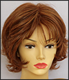 Envyhair wig Kylie, Mono top hand-tied sides and back wig, color shown lighter red