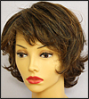 Envyhair wig Kylie, Mono top hand-tied sides and back wig, color shown chocolate caramel