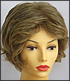 Envyhair wig Kylie, Mono top hand-tied sides and back wig, color frosted caramel