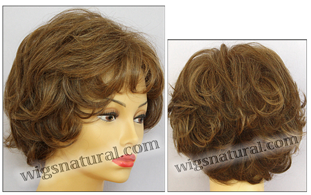 Envyhair wig Kylie, Mono top hand-tied sides and back wig, color shown light brown