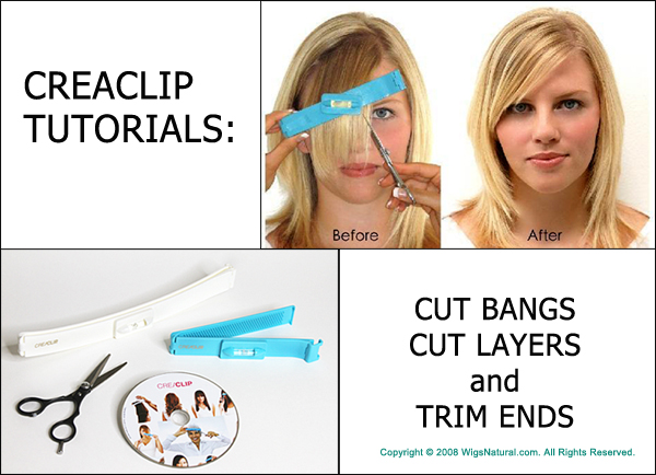 CREACLIP TUTORIALS - Cutting Bangs, Layers, and Trim Ends