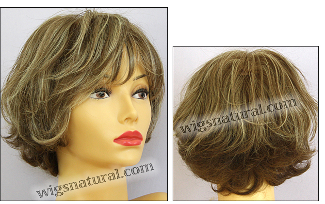 Envyhair wig Kylie, Mono top hand-tied sides and back wig, color shown almond breeze