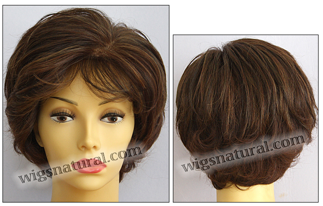 Envyhair wig Kylie, Mono top hand-tied sides and back wig, color cinnamon raisin