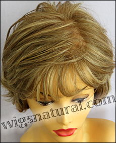 Envyhair wig Kylie, Mono top hand-tied sides and back wig, color dark blonde