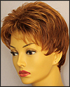 Envy open top wig Penelope, color shown lighter red