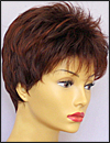 Envy open top wig Penelope, color shown dark red
