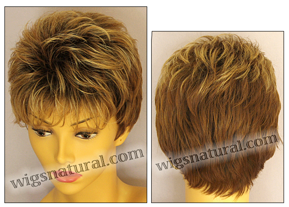 Envy open top wig Penelope, color shown creamed coffee