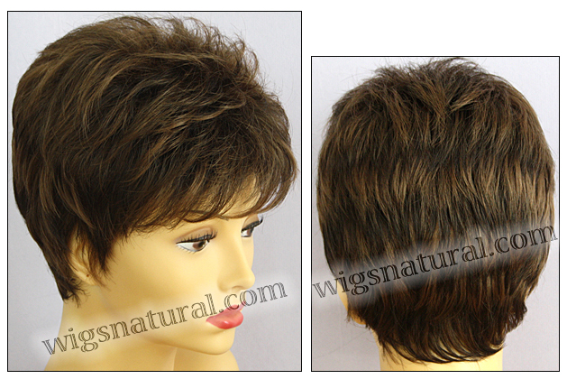 Envy open top wig Penelope, color shown medium brown