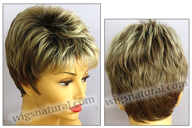 Envy open top wig Penelope, color shown sparkling champagne