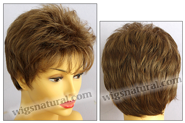 Envy open top wig Penelope, color shown light brown