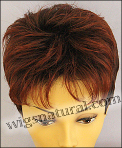 Envy open top wig Penelope, color shown chocolate cherry