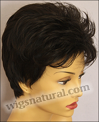 Envy open top wig Penelope, color shown dark brown
