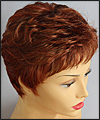 Envy mono top with lace front wig Jeannie, color shown lighter red