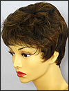 Envy mono top with lace front wig Jeannie, color shown chocolate caramel