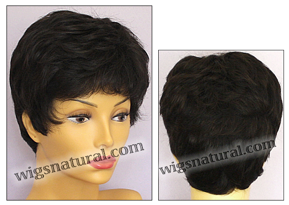 Envy mono top with lace front wig Jeannie, color shown dark brown