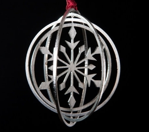 Brushed Stainless Steel Ornament