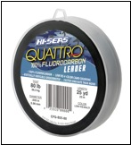 QUATTRO 100% FLUOROCARBON LEADER 25 YARDS