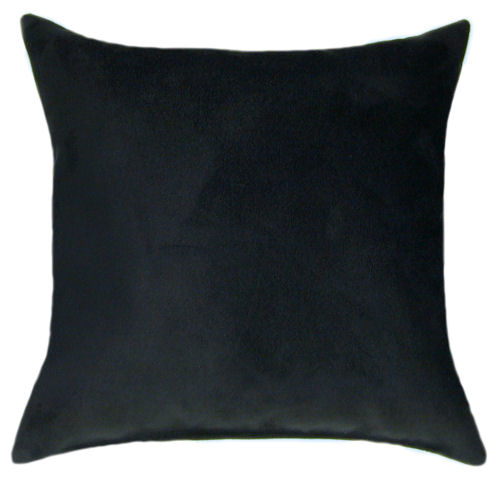Black Suede Throw Pillow - Sofa Pillow, Accent Pillow, Sale