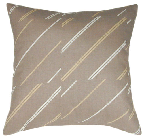 Throw Pillows For Taupe Sofa : Diagonal Taupe Sofa Pillow - Decorative Pillow, Accent Pillow