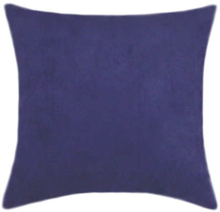 Blue Microsuede Throw Pillows : Royal Blue Suede Pillow Set - Decorative Pillows,
